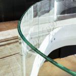 Balaustra circolare in vetro temperato su misura Particolare - Roma Centro Commerciale - VetroeXpert - Balaustre Parapetti Recinzioni