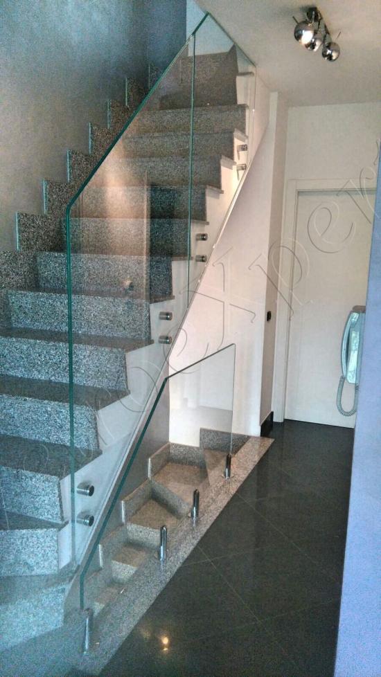 Balaustra di sicurezza in vetro prospettiva - Roma - VetroeXpert - Balaustre Parapetti Recinzioni