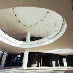Balaustre circolari in vetro temperato su misura - Roma Centro Commerciale - VetroeXpert - Balaustre Parapetti Recinzioni