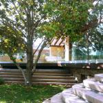 Balaustre di sicurezza in vetro in giardino - Roma - VetroeXpert - Balaustre Parapetti Recinzioni