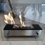 Camino in vetro - Roma - VetroeXpert - Arredo in cristallo