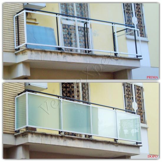 Collage Arredo balcone - Roma - VetroeXpert - Arredo in cristallo