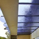 Copertura in vetro colorato - Roma - VetroeXpert - Coperture e Pensiline