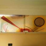 Divisorio con vetrata scorrevole - Roma - VetroeXpert - Arredo in cristallo