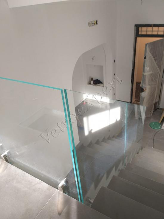 Ringhiera in cristallo Roma - VetroeXpert