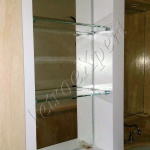 Mensole in vetro temperato su misura vista laterale - Roma - VetroeXpert - Arredo in cristallo