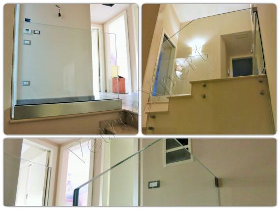 Panoramica viste Balaustra in vetro - Roma - VetroeXpert - Balaustre Parapetti Recinzioni