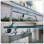 Particolare pensilina - Accessori made in italy per vetri e vetrate - Roma - VetroeXpert - Coperture e Pensiline