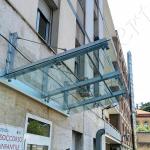 Pensilina e copertura in vetro temperato - Roma - VetroeXpert - Coperture e Pensiline