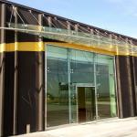 Pensiline in vetro temperato nuovo Centro Commerciale vista frontale - Roma - VetroeXpert - Coperture e Pensiline