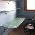 Scrivania ed angolo studio in cristallo - Roma - VetroeXpert - Arredo in cristallo