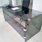 Scrivania in vetro - Roma - VetroeXpert - Arredo in cristallo