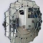 Specchio circolare decorato - Roma - VetroeXpert - Arredo in cristallo