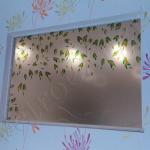 Specchio decorato in cristallo su misura - Roma - VetroeXpert - Arredo in cristallo
