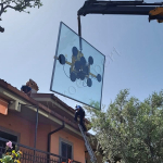 Tetto in vetro installato a Roma