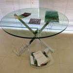 Tavolo in acciaio e cristallo - Roma - VetroeXpert - Arredo in cristallo