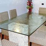 Tavolo rettangolare in vetro - Tavoli in vetro su misura - Roma - VetroeXpert - Arredo in cristallo