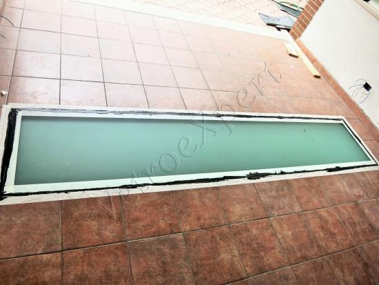 Pavimento in cristallo satinato su misura - Roma - VetroeXpert - Scale Pavimenti Ascensori