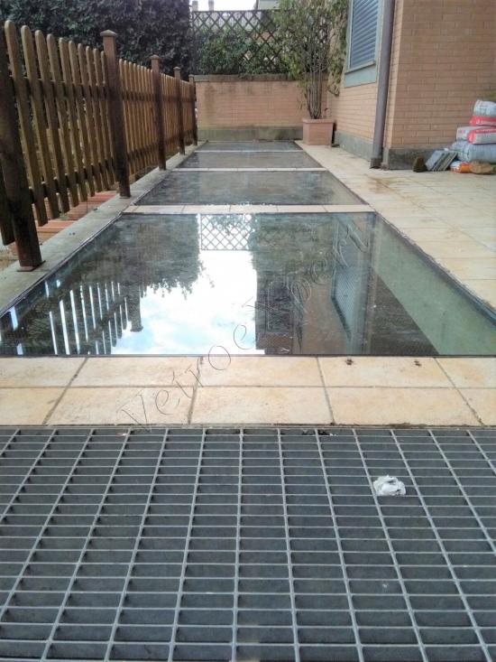 Sostituzione Grigliato In Metallo Con Pavimento In Vetro   Roma Olgiata   VetroeXpert   Scale Pavimenti Ascensori