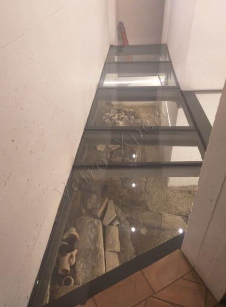 pavimento in vetro roma