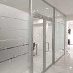 Parete divisoria ufficio in cristallo - Roma - VetroeXpert