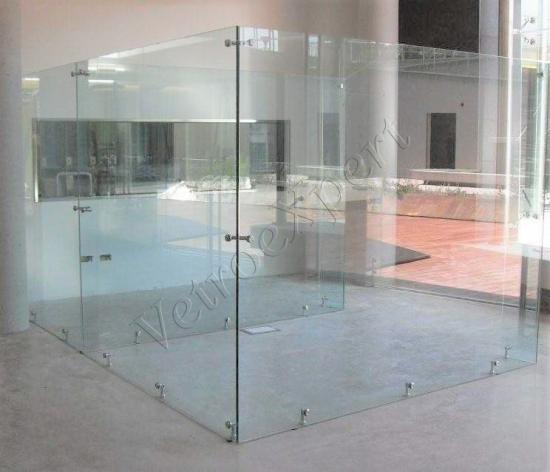 Ambiente In Vetro Autoportante   Roma   VetroeXpert   Pareti Divisorie In Cristallo