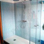 Box doccia a due ante - chiusura a battente e fisso grande - Roma - VetroeXpert - Box doccia in cristallo temperato su misura