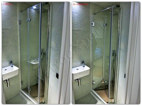 Box doccia a plissè su misura - Roma - VetroeXpert - Box doccia in cristallo temperato su misura