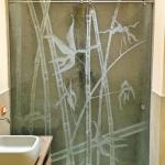 Box doccia con vetro decorato - Roma - VetroeXpert - Box doccia in cristallo temperato su misura