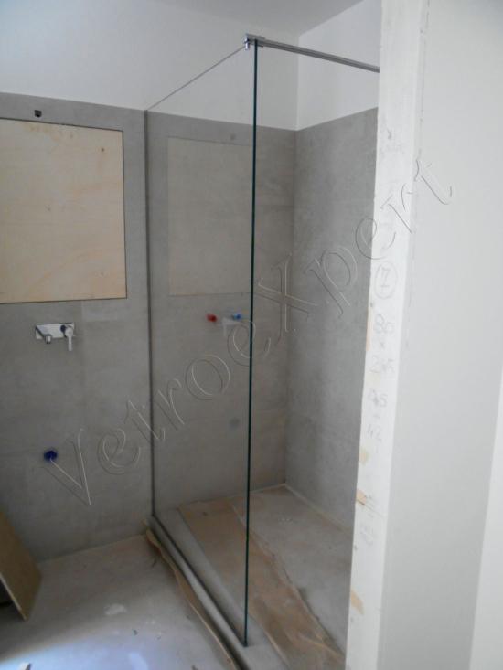 Box doccia cristallo temperato vista laterale - Roma - VetroeXpert - Box doccia in cristallo temperato su misura