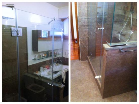 Box doccia particolare cerniere - Roma - VetroeXpert - Box doccia in cristallo temperato su misura