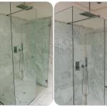Cabina doccia chiusura a battente - Roma - VetroeXpert - Box doccia in cristallo temperato su misura