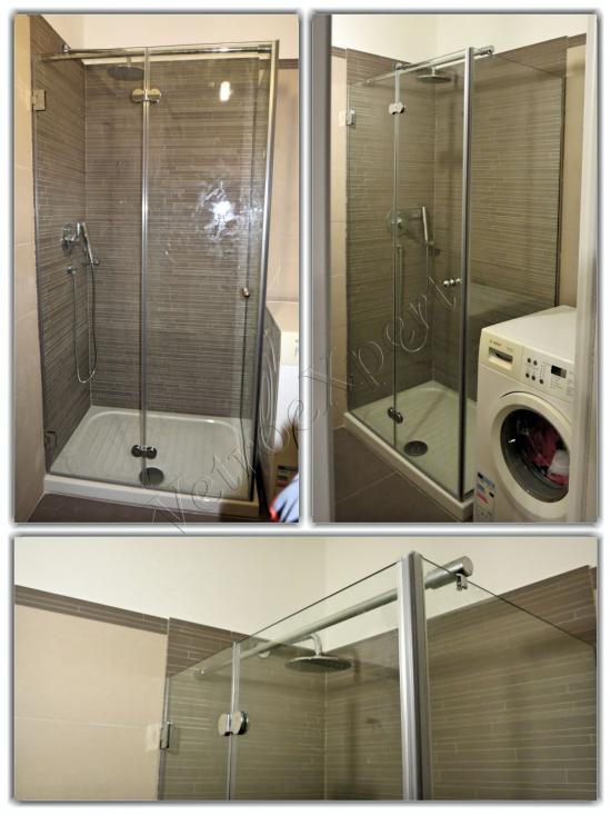 Collage Box doccia in vetro temperato - Roma - VetroeXpert - Box doccia in cristallo temperato su misura