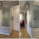 Collage Decorazione serigrafica su vetro - Roma - VetroeXpert - Decorazioni e Serigrafie
