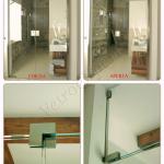 Collage Porta in vetro su misura in tutta altezza con doppia anta aperta - Roma - VetroeXpert - Porte in vetro su misura e Pareti divisorie