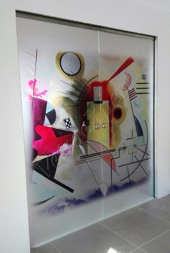 Decorazione su vetro Kandinskij - Roma - VetroeXpert - Decorazioni e Serigrafie