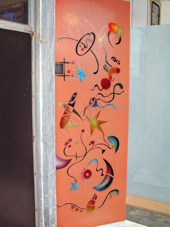 Decoro colorato su vetro - Roma - VetroeXpert - Decorazioni e Serigrafie