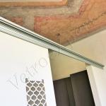 Dettaglio guide Porta scorrevole - Roma - VetroeXpert - Porte in vetro su misura e Pareti divisorie
