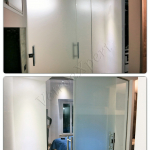 Dettaglio maniglioni di porta temperata su misura - Roma - VetroeXpert - Porte in vetro su misura e Pareti divisorie
