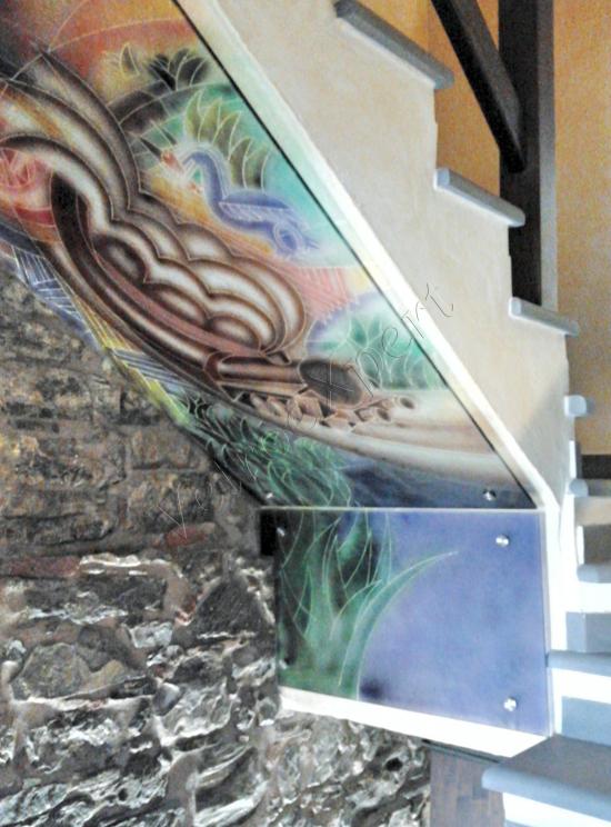 Disegno su vetro - Roma - VetroeXpert - Decorazioni e Serigrafie
