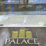 Doppia Porta ingresso Hotel - particolare - Roma - VetroeXpert - Porte in vetro su misura e Pareti divisorie