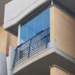 Vetrata tutto vetro per chiusura balcone