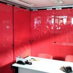 Parete divisoria colorata in vetro - Roma - VetroeXpert - Porte in vetro su misura e Pareti divisorie