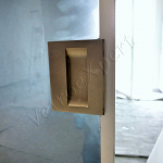 Particolare maniglia Porta in vetro - Roma - VetroeXpert - Porte in vetro su misura e Pareti divisorie