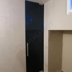 Porta color nero in vetro su misura - Roma - VetroeXpert - Porte in vetro su misura e Pareti divisorie