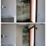 Porta con mantovana temperata scorrevole con decoro a serigrafia - Roma - VetroeXpert - Porte in vetro su misura e Pareti divisorie