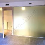 Porta divisoria in vetro satinato - Roma - VetroeXpert - Porte in vetro su misura e Pareti divisorie