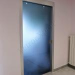 Porta in vetro blu - Roma - VetroeXpert - Porte in vetro su misura e Pareti divisorie