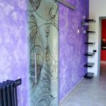Porta in vetro con venenziana - Roma - VetroeXpert - Porte in vetro su misura e Pareti divisorie