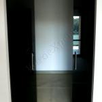 Porta in vetro nero lucido - Roma - VetroeXpert - Porte in vetro su misura e Pareti divisorie